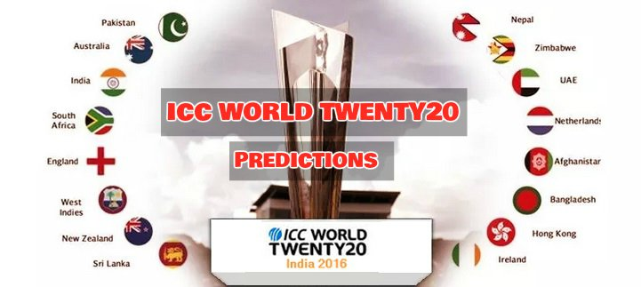 ICC Twenty20 World Cup 2016 Predictions